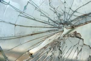 Steinschlag in einer Autoscheibe