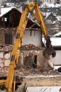 Abbruch eines Hauses