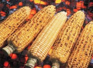 Gemüse Grillen: Maiskolben auf dem Grill
